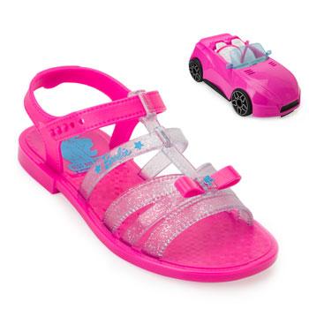 Sandália Grendene Barbie Car 22166 Rosa-Azul