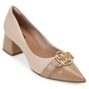 Sapato Salto Bloco Bebecê BC20-T3820030 Nude
