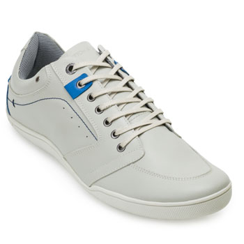 Sapatênis Cotton 4111 Off White-Azul Claro TAM 44 ao 48