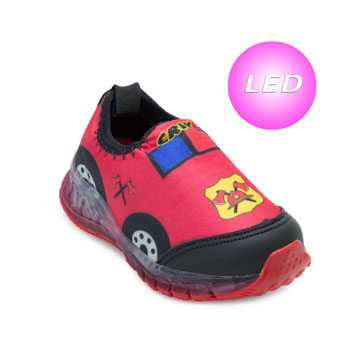 Tênis de Led Crik Baby Carro CK21-X5B Vermelho-Preto