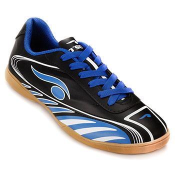 Chuteira Futsal Dsix 6203 Preto-Azul-Branco