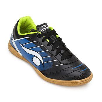 Chuteira Futsal Dsix Juvenil DS19 6204 Preto-Azul