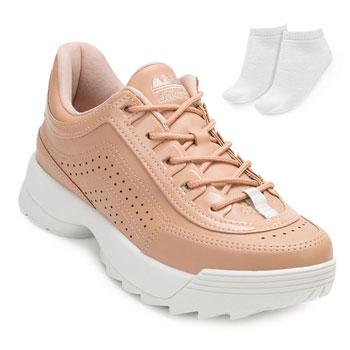 Tênis Dakota Dad Sneaker e Espelho DT20-G0988 Nude