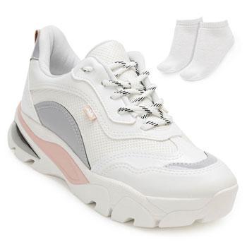 Tênis Dakota Dad Sneaker e Espelho DT20-G1013 Branco-Cinza