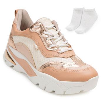 Tênis Dakota Dad Sneaker e Espelho DT20-G1013 Nude
