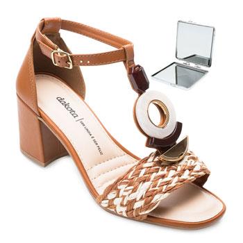Sandália Dakota e Espelho DT21-Z8172 Caramelo-Bege