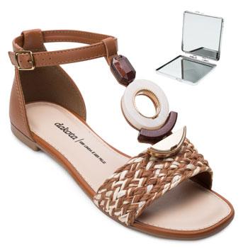 Sandália Dakota e Espelho DT21-Z8183 Caramelo