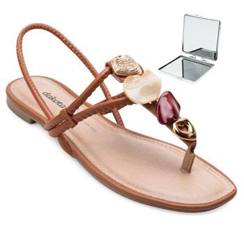Sandália Dakota e Espelho DT21-Z8622 Caramelo