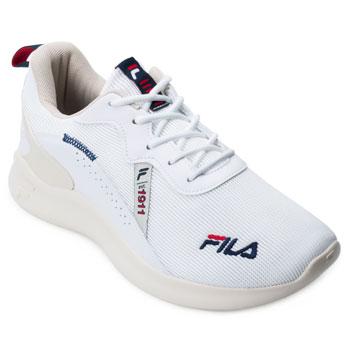 Tênis Fila Shine FL21 Branco-Bege-Vermelho TAM 44 ao 48