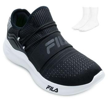 Tênis Fila Trend 2.0 e Meia FL21 Preto-Branco
