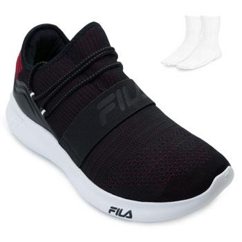 Tênis Fila Trend 2.0 e Meia FL21 Preto-Vermelho-Branco