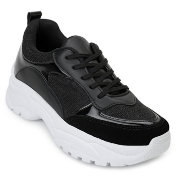 Tênis Dad Sneaker Florence FR20-1201835 Preto-Branco