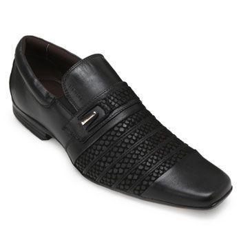 Sapato Focal Flex Couro FF18-1517 Preto TAM 44 ao 51