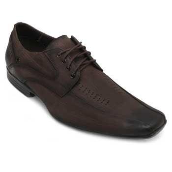 Sapato Focal Flex Couro FF18-1510 Café TAM 44 ao 51