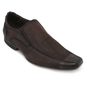 Sapato Focal Flex Couro FF18-1511 Café TAM 44 ao 51