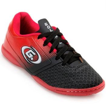 Chuteira Futsal Goleada GO19-5324 Preto-Vermelho