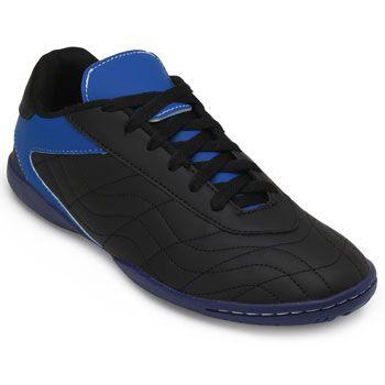 Chuteira Futsal Goleada GO19-0224 Preto-Azul