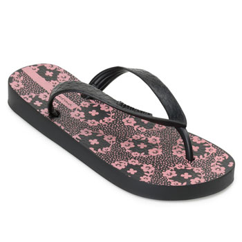Chinelo Ipanema Happy 25279 Preto-Rosa