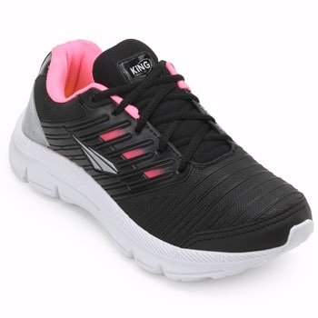 Tênis King Trainer SO19-UA300 Preto-Rosa