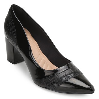 Scarpin Lady Queen AM19-1230100 Preto TAM 40 ao 44