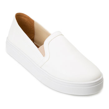 Slip On Lia LI20-92602 Branco TAM 40 ao 44