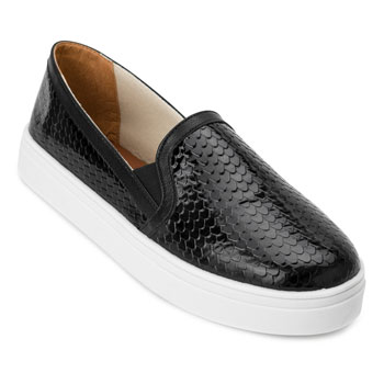 Slip On Escamas Lia LI20-92602 Preto TAM 40 ao 44