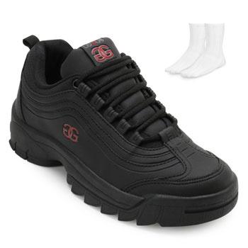 Tênis Dad Sneakers Logus e Meia LG19-20330P Preto-Vermelho