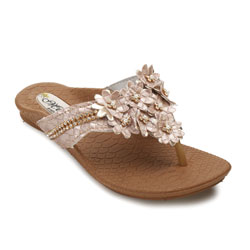 Rasteira Meyre Fashion Juvenil 384I Rose Croco
