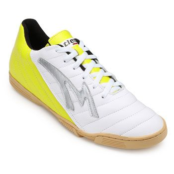 Chuteira Futsal Munique Celta MN19-621-Indoor Branco-Amarelo TAM 44 ao 48