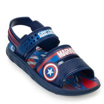 Papete Capitão América Marvel Pack Infantil 22368 Azul-Branco