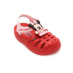 Sandália Grendene Mickey Minnie Baby 21870 Vermelho-Rosa