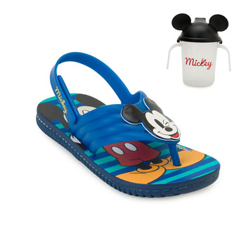 Chinelo Grendene Mickey Minnie Baby 22165 Azul