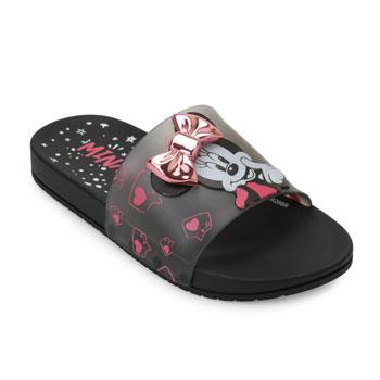 Chinelo Grendene Slide Minnie Fashion 22316 Preto