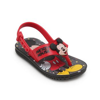 Sandália Grendene Mickey Baby 21988 Preto-Vermelho