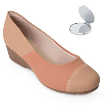 Sapato Modare Anabela e Espelho MD20-7014263 Nude