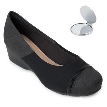 Sapato Modare Anabela e Espelho MD20-7014263 Preto