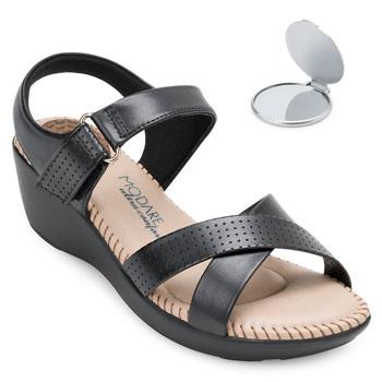 Sandália Modare Ultra Conforto e Espelho MD20-7023337 Preto