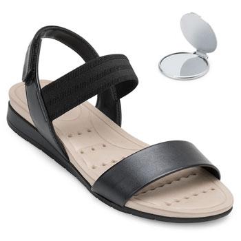 Sandália Modare Ultra Conforto e Espelho MD20-7113212 Preto-Bege