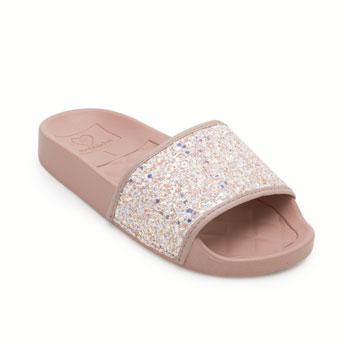 Chinelo Slide Molekinha Infantil MK19-2311105 Branco-Rosa