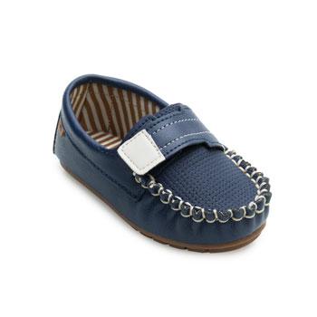Sapato Mocassim Molekinho Baby ML21-2142120 Marinho-Branco