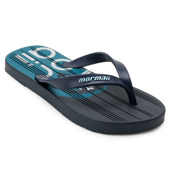 Chinelo Mormaii Tropical 10591 Azul-Branco