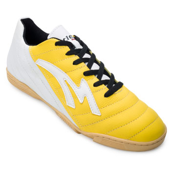 Chuteira Futsal Munique Celta 621 Indoor-MN21 Amarelo-Branco TAM 44 ao 48