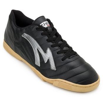 Chuteira Futsal Munique Celta MN19-621-Indoor Preto-Prata TAM 44 ao 48