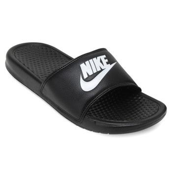 Chinelo Nike Benassi JDI Preto-Branco