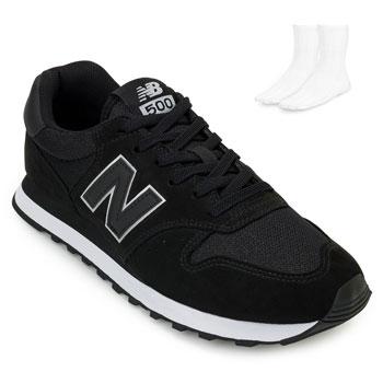 Tênis New Balance e Meia NB20-GM500TRX Preto-Branco