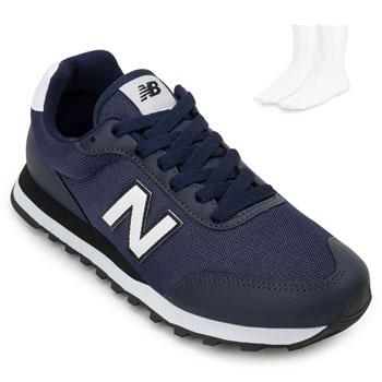 Tênis New Balance e Meia NB20-GM50NV Marinho-Branco