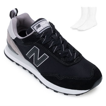 Tênis New Balance e Meia NB21-ML515BR3 Preto-Cinza
