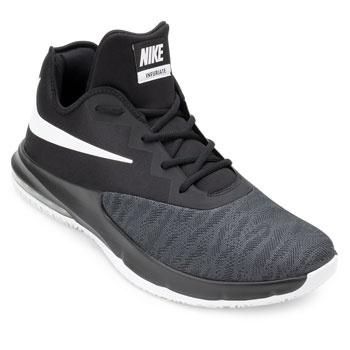 Tênis Nike Air Max Infuriate III Low NK19 Preto-Branco-Cinza TAM 44 ao 48
