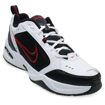 Tênis Nike Air Monarch IV NK21 Branco-Preto-Vermelho TAM 44 ao 48