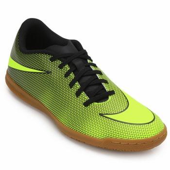 Chuteira Futsal Nike Bravata NK19 Preto-Verde